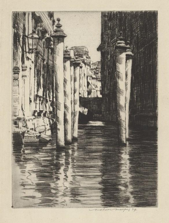 Mortimer Menpes, A Narrow Canal, Vencie, 1912-3