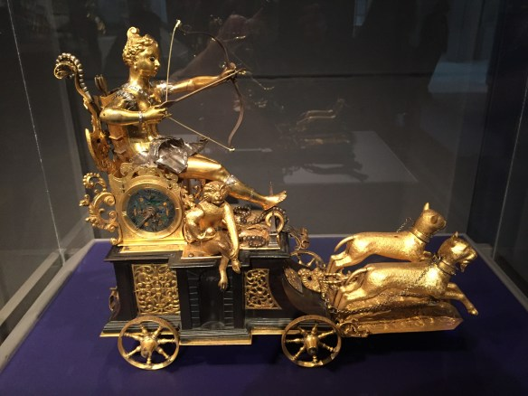Automaton Clock in the form of Diana and Her Chariot, German, c1610