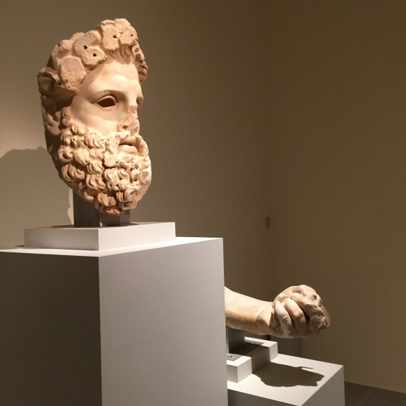 Zeus' head and fist