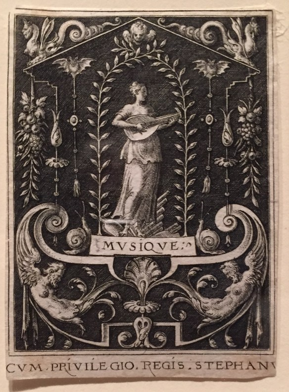 Etienne Delaune, Music book plate, 16th century