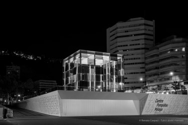 Centre Pompidou Malaga, 28 aprile 2015 - Nikon D810, 42mm (24-70.0mm ƒ/2.8) 1.0sec ƒ/4 ISO 64
