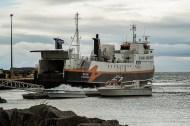 The ferry at Brjánslækur. Nikon D810, 120 mm (24-120.0 mm ƒ/4) 1/250 sec ƒ/14 ISO 800
