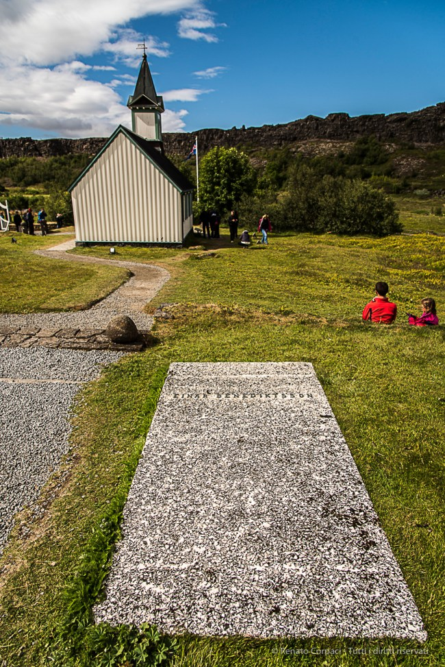King Olaf the portly of Norway sent wood and a church bell as a present for a church at Thingvellir in the year 1015. Nikon D810, 24 mm (24-120.0 mm ƒ/4) 1/500 sec ƒ/6.3 ISO 64