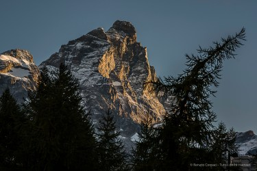 The Matterhorn at dawn. Nikon D810, 85mm (85.0mm ƒ/1.4) 1/125 ƒ/5.6 ISO 64
