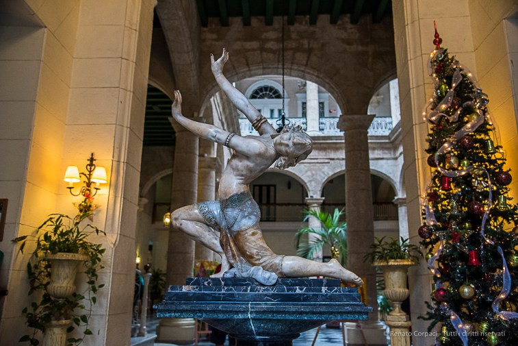 "A fine ceramic odalisque greets the guests at the Hotel Florida. Nikon D810, 31 mm (24-120.0 ƒ/4) 1/100"" ƒ/4.5 ISO 3200."