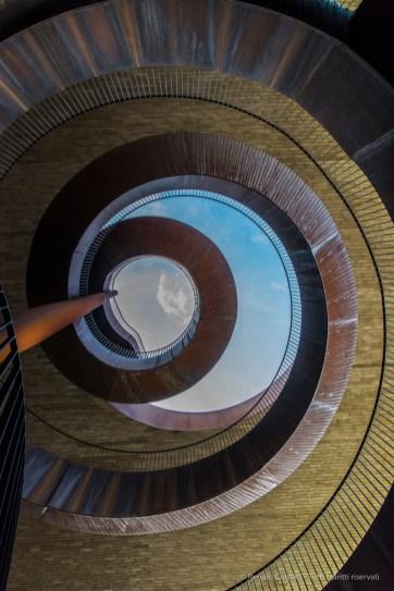 "The elliptic stairway is 100 metres long and goes up 18 metres. Nikon D810, 24 mm (24.0 mm ƒ/1.4) 1/500"" ƒ/8 ISO 1600"