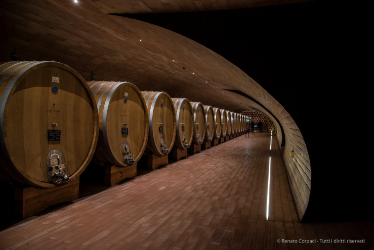 "Wine vats. Nikon D810, 24 mm (24-120.0 mm ƒ/4) 10"" ƒ/5 ISO 64"