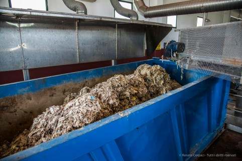 """Pretreatment consists of removing all solid materials like trash, tree limbs, leaves, branches plus fabric, plastics and the like from the sewage entering the plant. These materials are collected and sent by truck to incineration. Nikon D810, 24 mm (24-120 mm ƒ/4) 1/100"""" ƒ/5 ISO 1600"""