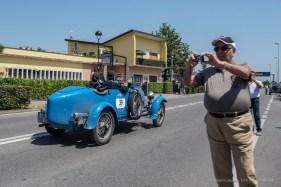 "Antonio D'Antinone and Sabrina Baroli on a 1927 BUGATTI T 40. Nikon D810, 24 mm (24.0mm ƒ/1.4) ) 1/680"" ƒ/4 ISO 64"