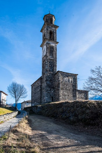 "Somasassa, Valtellina, church of San Gottardo, XVIII Century. Northwestern view. Nikon D810, 24 mm (24 mm ƒ/1.4) 1/100"" ƒ/8 ISO 64"