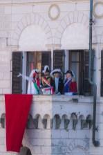 """The """"Mugnaia"""" on the Villa Balcony for the """"Preda in Dora"""". Nikon D810, 400 mm (80-400 mm ƒ/4.5-5.6) 1/500"""" ƒ/9 ISO 800"""