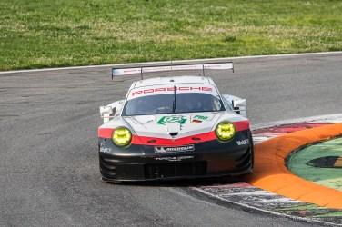 Porsche 911 RSR with Michael Christensen at the First Chicane. Nikon D750, 280 mm (80-400.0 mm ƒ/4.5-5.6)