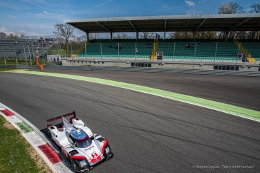 "Timo Bernhard on Porsche 919 Hybrid entering the Parabolica. Nikon D810, 20 mm (20 mm ƒ/1.8) 1/1250"" ƒ/4 ISO 64"