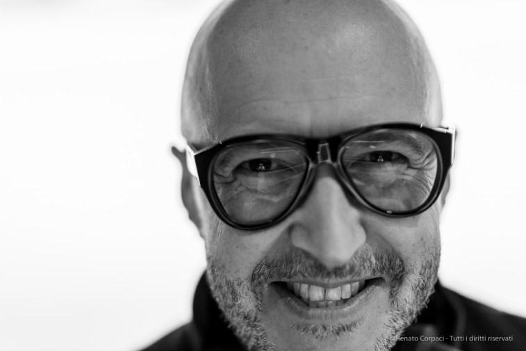 "Saturnino Celani, musician, eyewear designer. Milano, February 2018. Nikon D810 85 mm (85 mm ƒ/1.4) 1/100"" ƒ/1.4 ISO 900"
