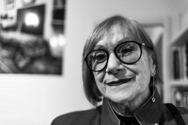 "Viana Conti, art critic, essayist, curator, journalist. November 2017. Nikon D810, 85 mm (85.0 mm ƒ/1.4) 1/160"" ƒ/2.0 ISO 400"