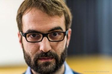 Marco Luini, researcher, computer music designer. Torino, April 2018. Nikon D810, 85 mm (24-120 mm ƒ/4) 1/160 ƒ/1.4 ISO 1100
