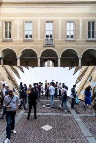 Open Sky by Phillip K. Smith III for Cos, at Palazzo Isimbardi. Milano Design Week 2018