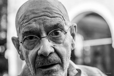 "Mario Bellini, architetto, designer. Murano, September 2018. Nikon D810, 85 mm (85 mm ƒ/1,4) 1/500"" ƒ/4.5 ISO 320"