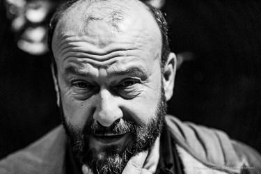 Davide Rondoni, poet, writer, playwriter. Milano, April 2019. Nikon D810, 85 mm (85 mm ƒ/1.4) 1/125 ƒ/2.8 ISO 4000