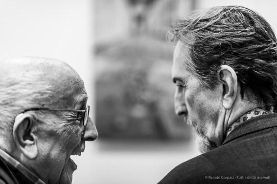 Franco Fontana and Giovanni Gastel. Como, April 2019. D810, 85 mm (85 mm ƒ/1.4) 1/125 ƒ/1.4 ISO 560