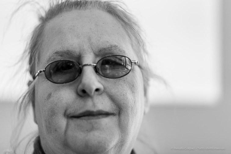 Renata Casartelli, director of the International Lace Biennial in Cantù. Milano, April 2019. Nikon D750, 85 mm (85 mm ƒ/1.4) 1/125 ƒ/1.4 ISO 100