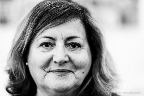 "Patrizia Ginepri, journalist, «Gazzetta di Parma». Parma, May 2019. Nikon D810 85 mm (85 mm ƒ/1.4) 1/125"" ƒ/1.4 ISO 1100"