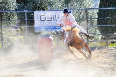 Barrel Racing al Centro Equestre Val Nervia