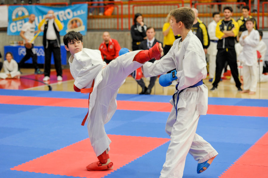 Foto di un incontro di karate