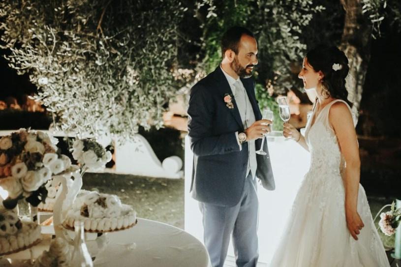 foto del brindisi degli sposi