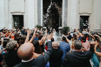 Uscita sposi dalla chiesa