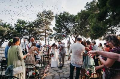 Lancio riso matrimonio rito civile