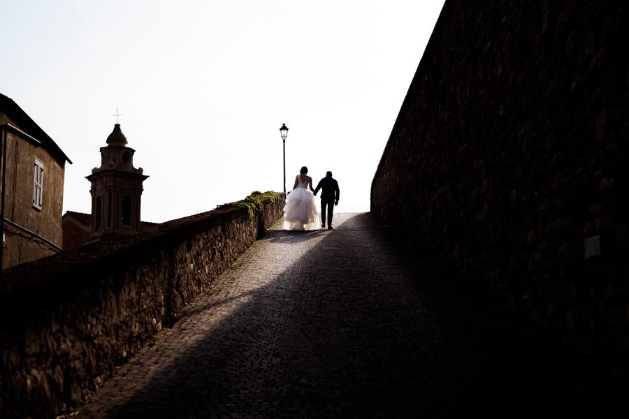Shooting matrimoniale al tramonto