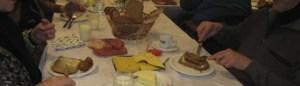 broodmaaltijd aangeboden door de PW
