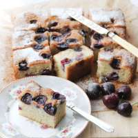 Seasonal Cherry and Almond Traybake