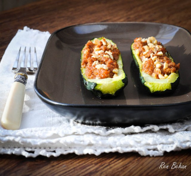 Courgette and Zucchini Boats