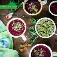 Beetroot and Kale Soup | Kale and Almond Crumble | Jumpstart2015