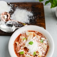 Recipe: Rainy Day Pizza Pasta Soup