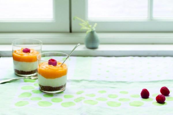 Mango and Raspberry Cheesecake