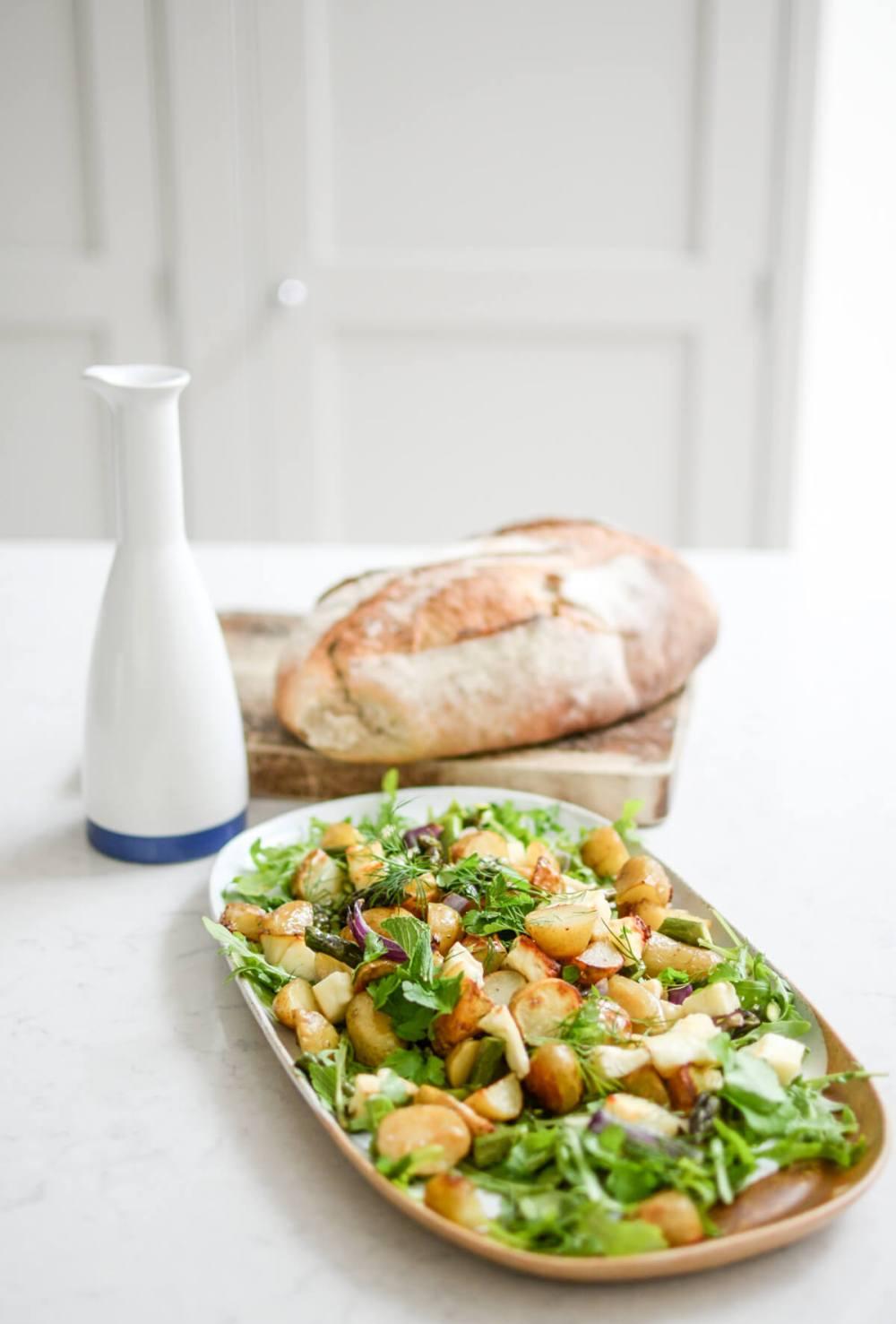 Recipe: Warm New Potato, Asparagus and Halloumi Salad