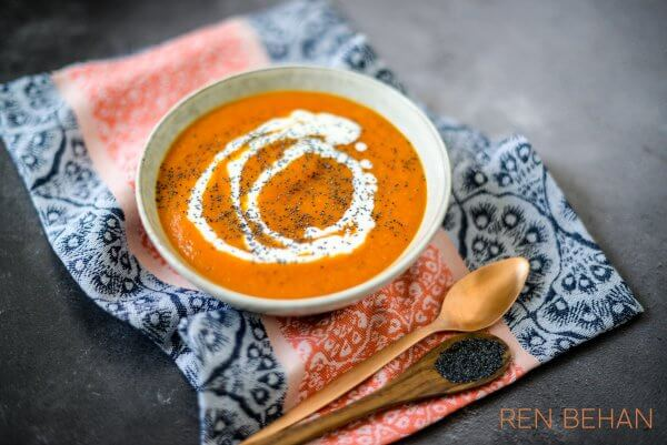 leftover pumpkin soup with kefir