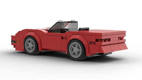 LEGO Chevrolet Corvette C4 Convertible model rear view
