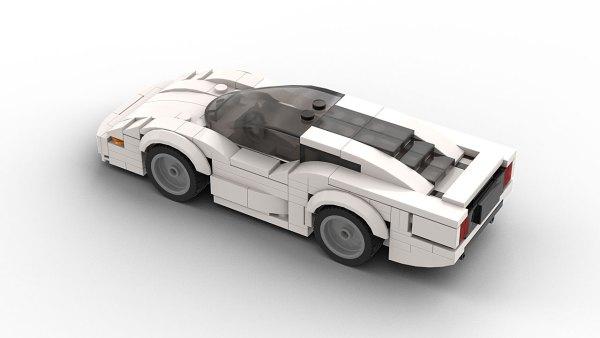 LEGO Jaguar XJ220 Model Top View