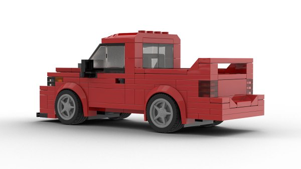LEGO Dodge Ram SRT-10 Model Rear View