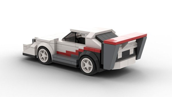 LEGO Audi Sport Quattro Pikes Peak model rear view