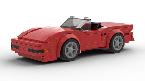 LEGO Chevrolet Corvette C4 convertible model