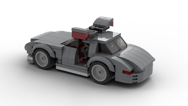LEGO Mercedes SL300 Gullwing Model open doors