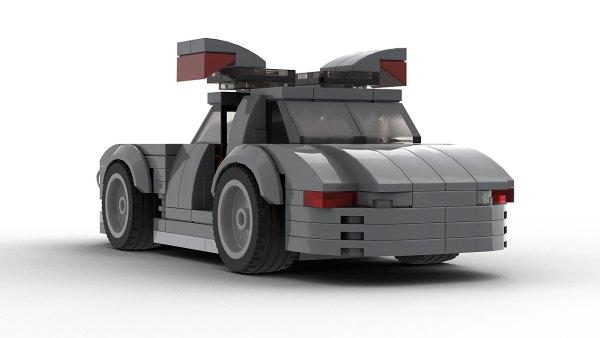 LEGO Mercedes SL300 Gullwing Open Doors Model Rear