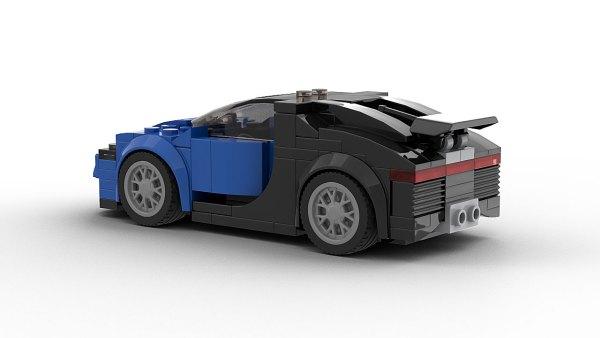 LEGO Bugatti Chiron Model Rear View
