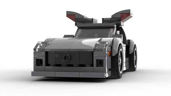 LEGO Mercedes-Benz SLS AMG Open Doors model front view