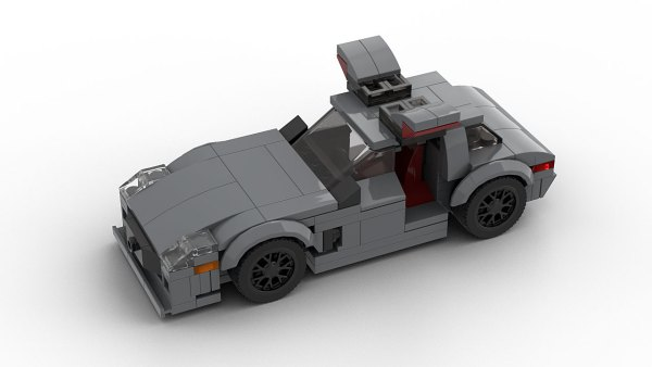 LEGO Mercedes-Benz SLS AMG Open Doors model top view